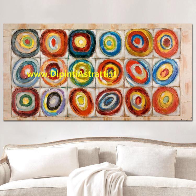 Quadro moderno cerchi astratti colorati dipintiastratti for Quadri moderni astratti su tela