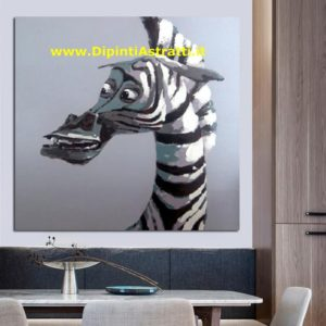 QUADRI MODERNI CARTOONS ZEBRA