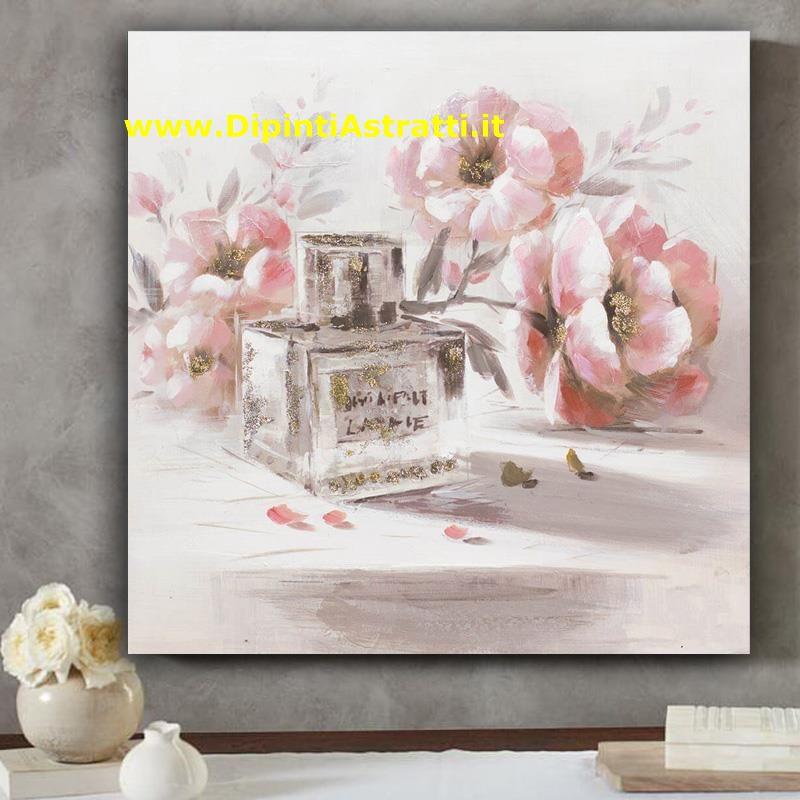 Quadri shabby con profumo e fiori dipintiastratti for Quadri shabby