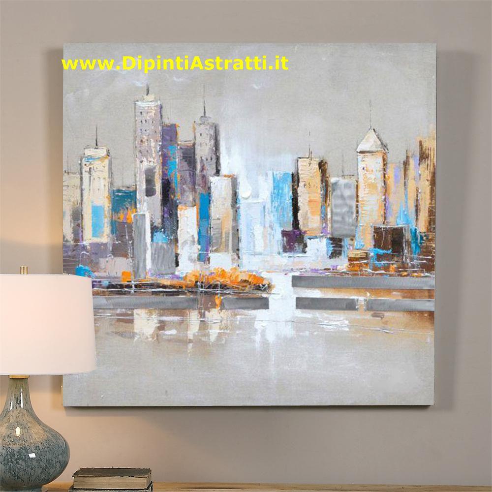 Quadri su tela grattacieli moderni america dipintiastratti for Quadri moderni su tela