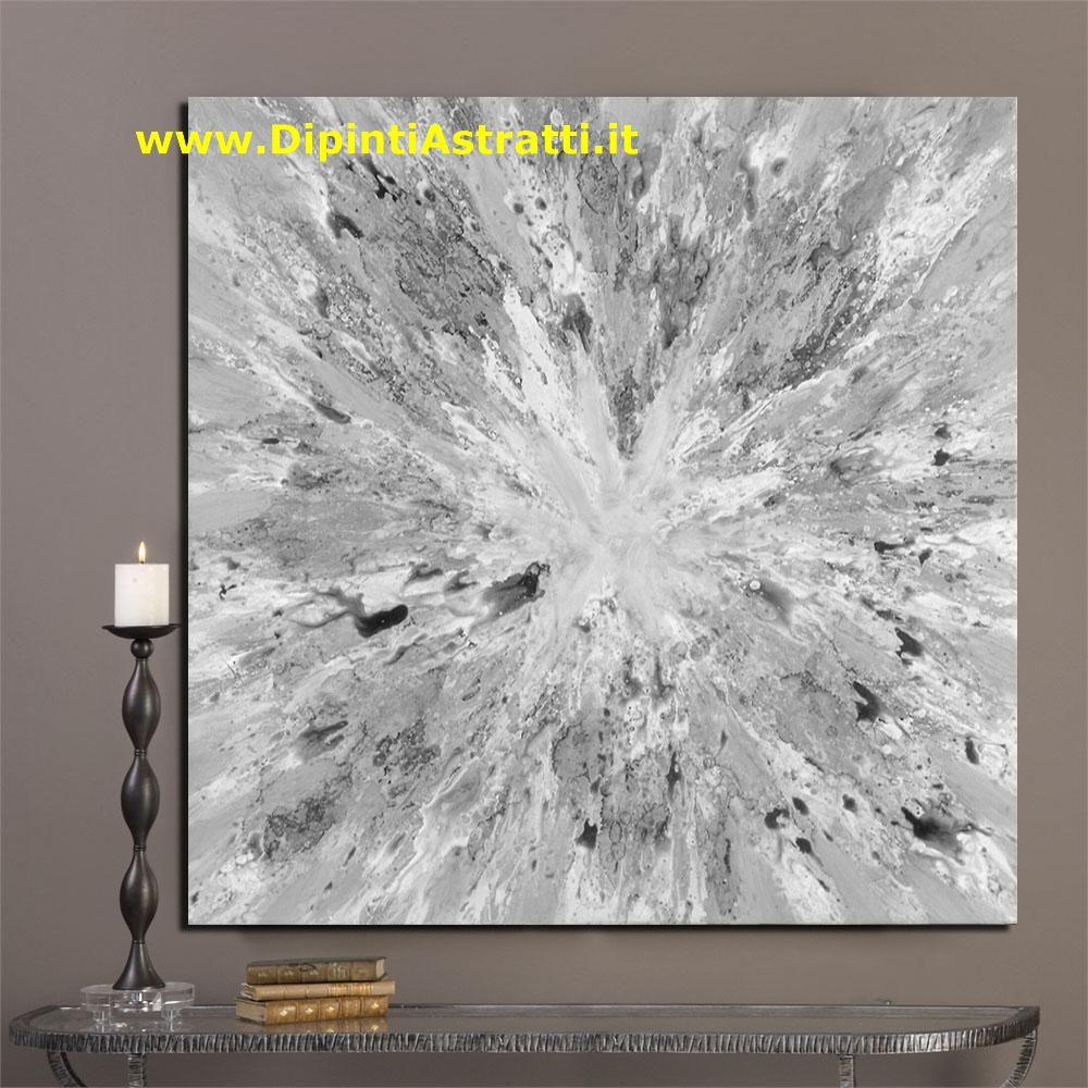 Quadro astratto schizzo bianco e grigio dipintiastratti for Dipingere quadri moderni